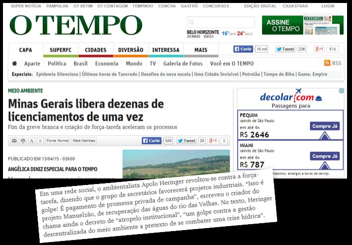 Força-tarefa exclui participação de técnicos de meio ambiente
