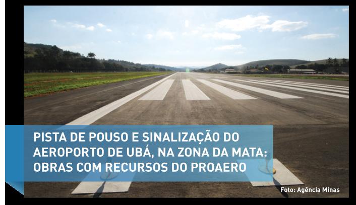 Proaero realizou obras em 29 aeroportos de diversas regiões de Minas